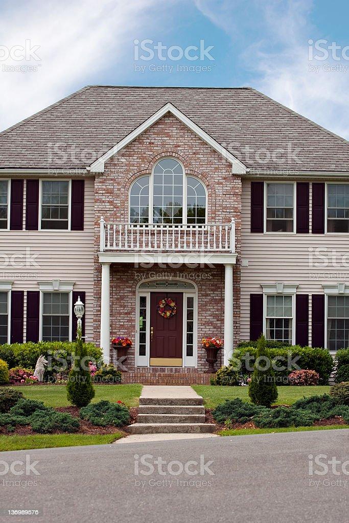 Custom Built Home stock photo