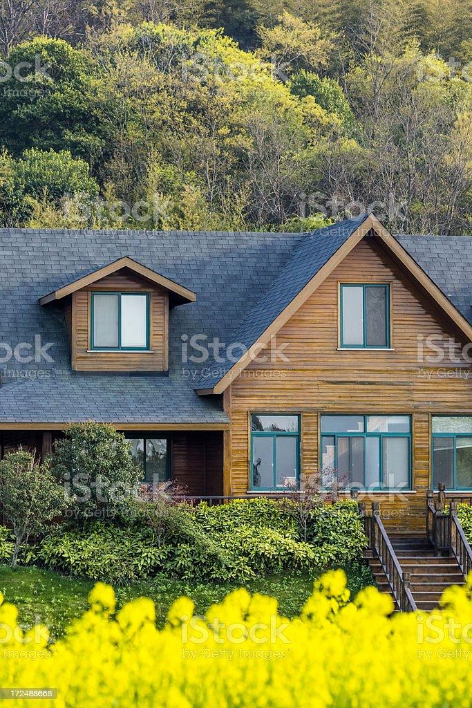 custom cedar house royalty-free stock photo