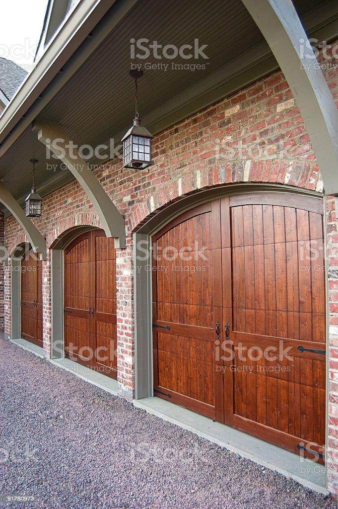 Custom Garage Doors royalty-free stock photo