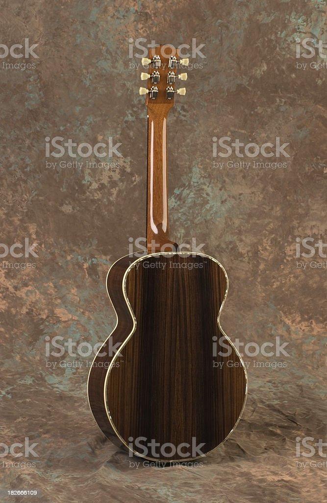 Custom Guitar Back stock photo