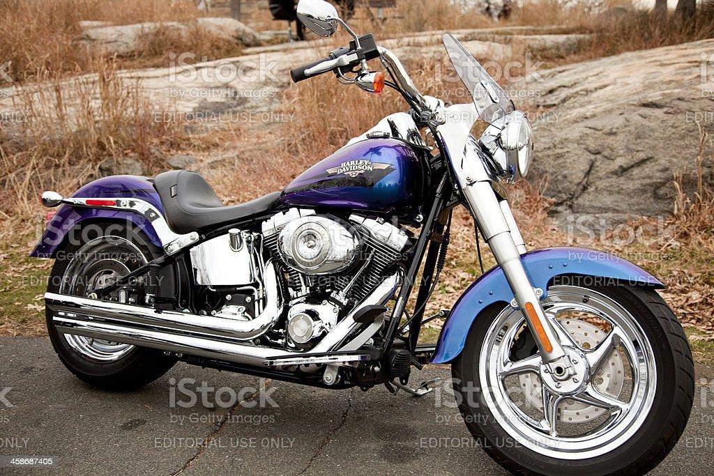 Custom Harley Davidson Fat Boy stock photo