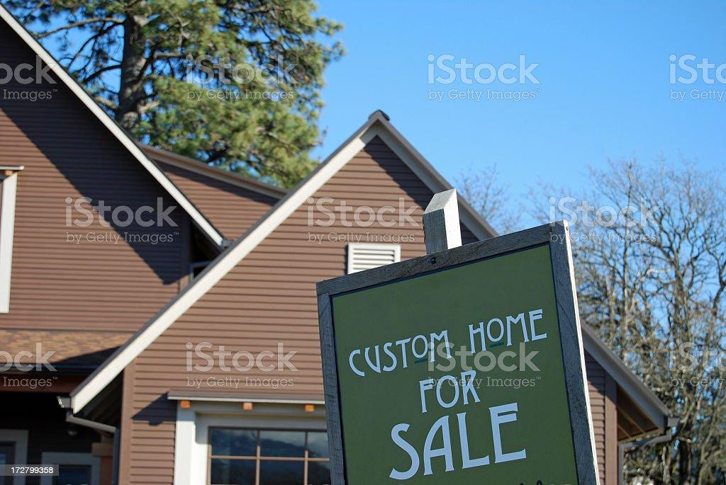 Custom Home for Sale stock photo