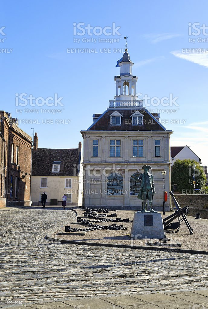 Custom House and Captain Vancouver, King's Lynn royalty-free stock photo