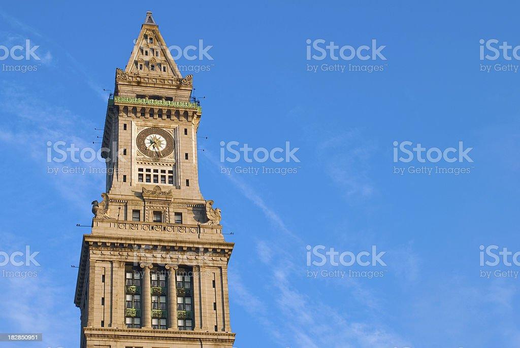 Custom House Tower in Boston, MA stock photo