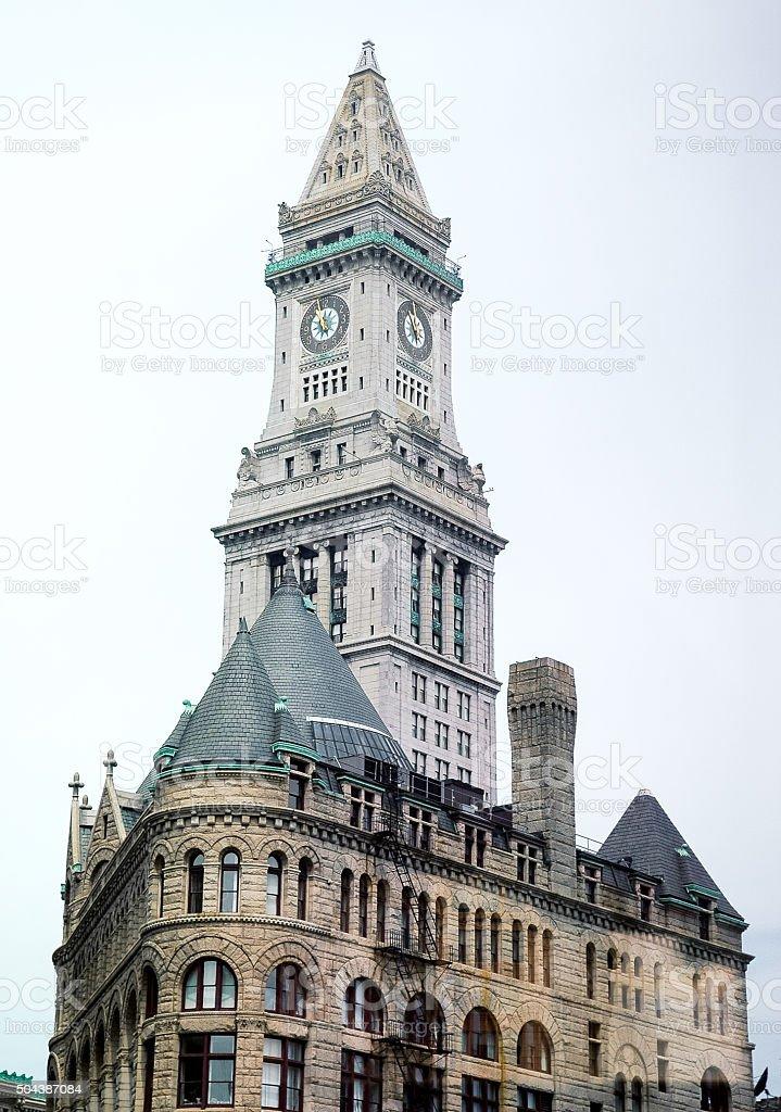 Custom House Tower stock photo