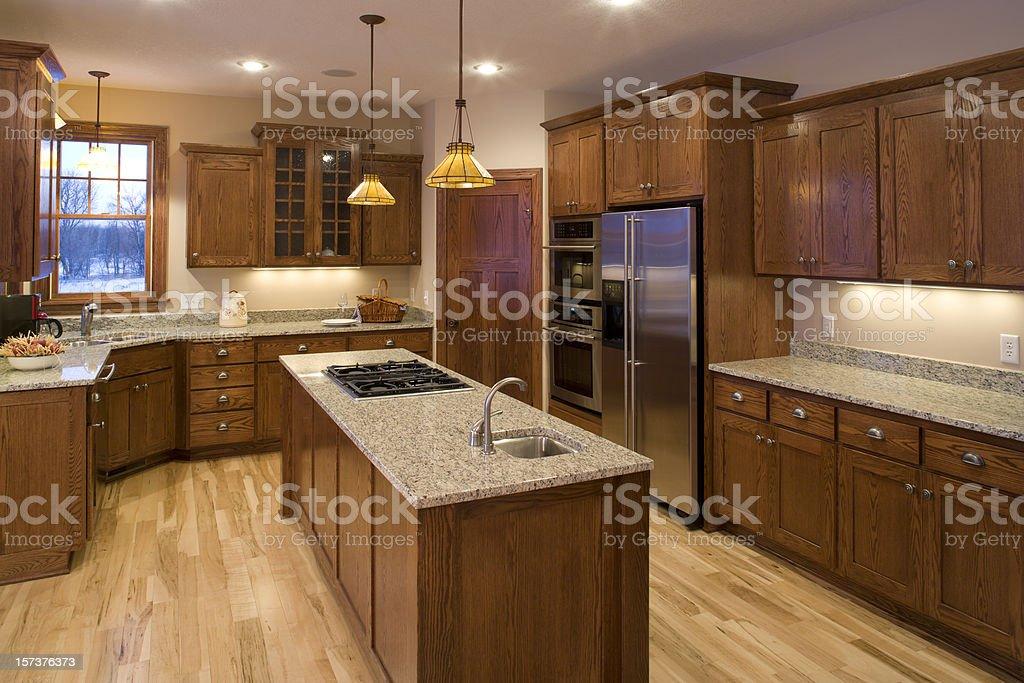 Custom kitchen. stock photo