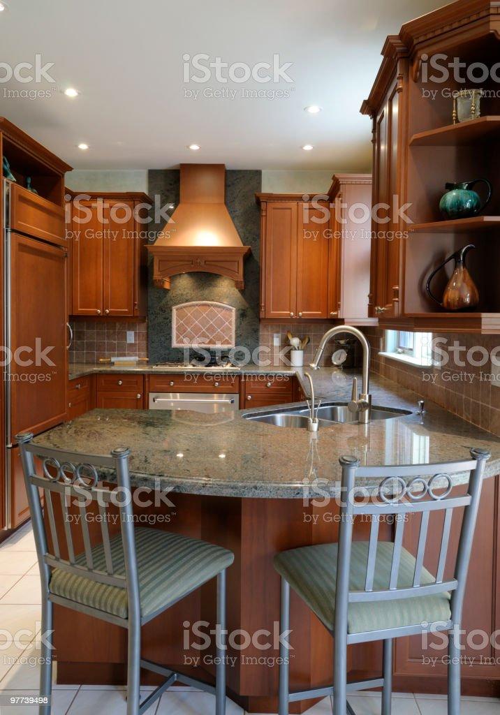 Custom Kitchen stock photo