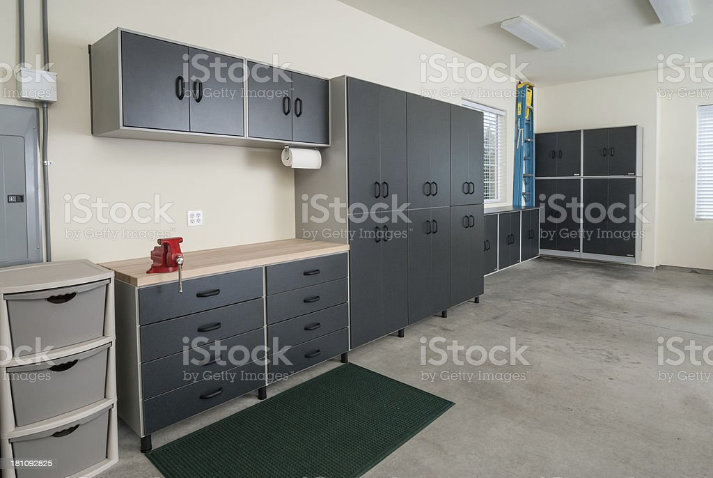 Custom made Garage stock photo