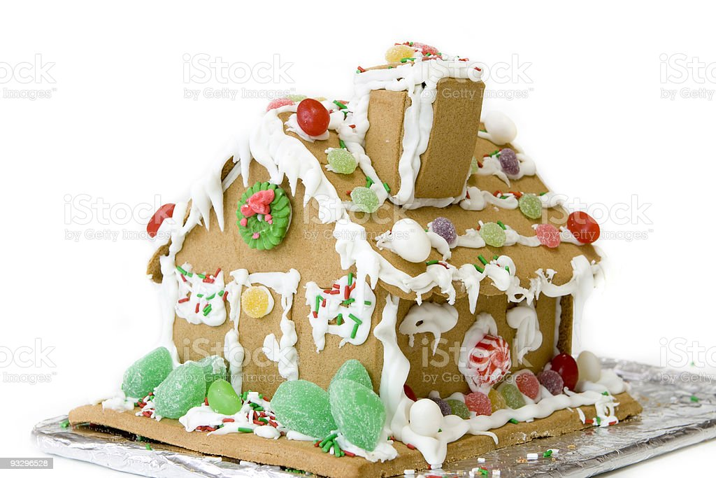 custom made gingerbread house royalty-free stock photo