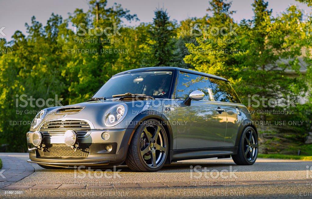 Custom Mini Cooper S stock photo
