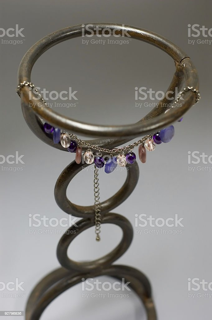 Custom Necklace on Iron stock photo