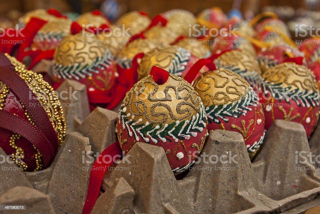 Custom ornamental Easter eggs royalty-free stock photo