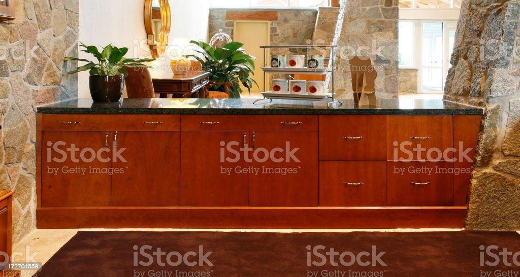 Custom storage cabinet stock photo