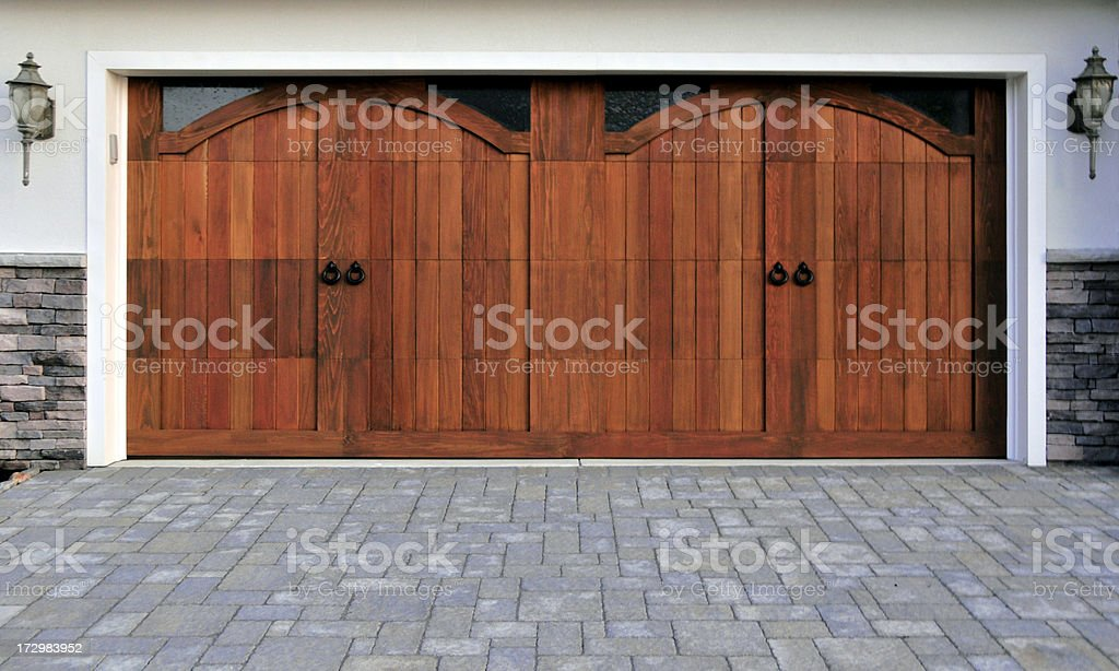 Custom Two Car Garage stock photo