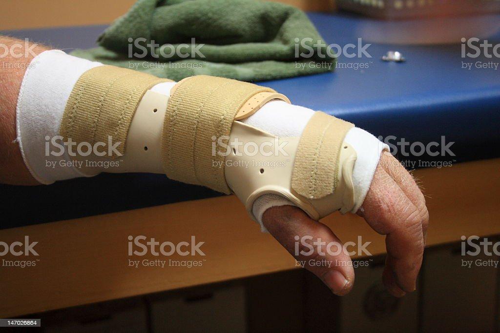 Custom Wrist Brace stock photo