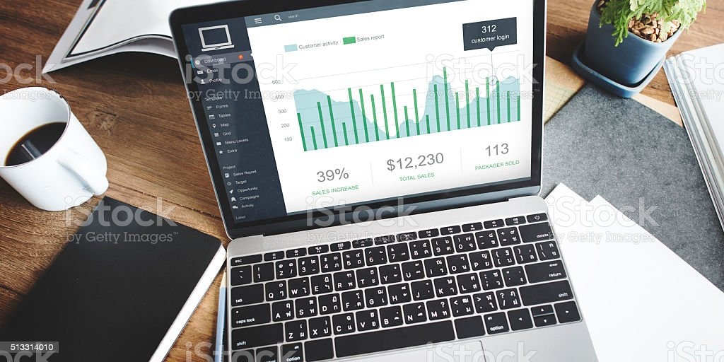 Customer Activity Monitor Dashboard Concept stock photo
