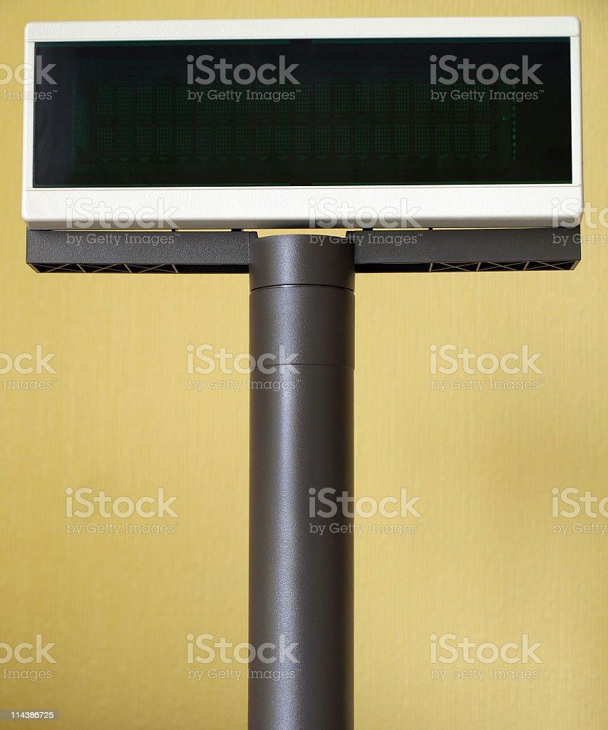 Customer Display royalty-free stock photo