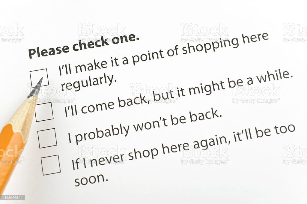 Customer feedback royalty-free stock photo