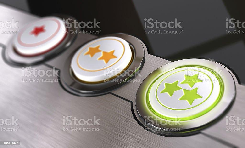 Customer Feedback, Rating Concept stock photo