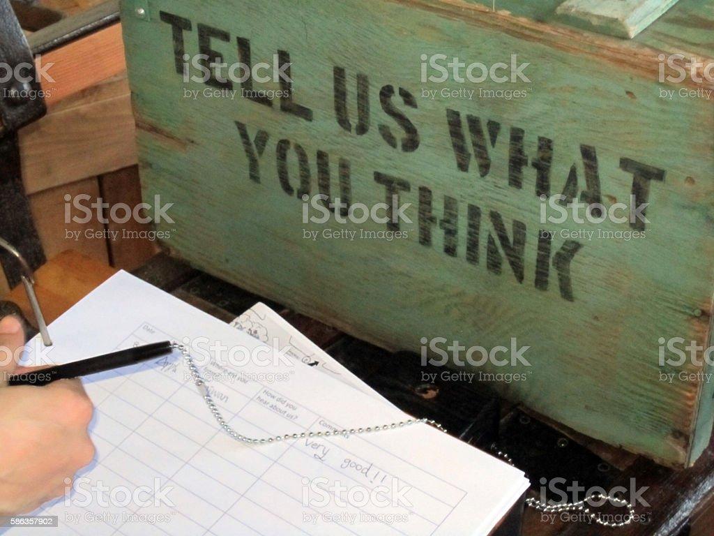 Customer Feedback Survey stock photo