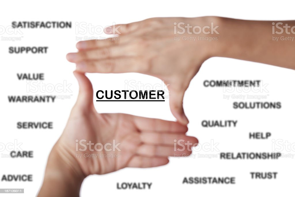 Customer Focus royalty-free stock photo