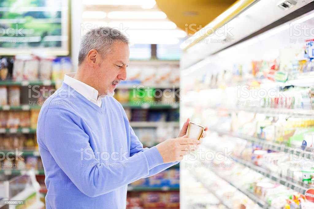 Customer in a supermarket stock photo