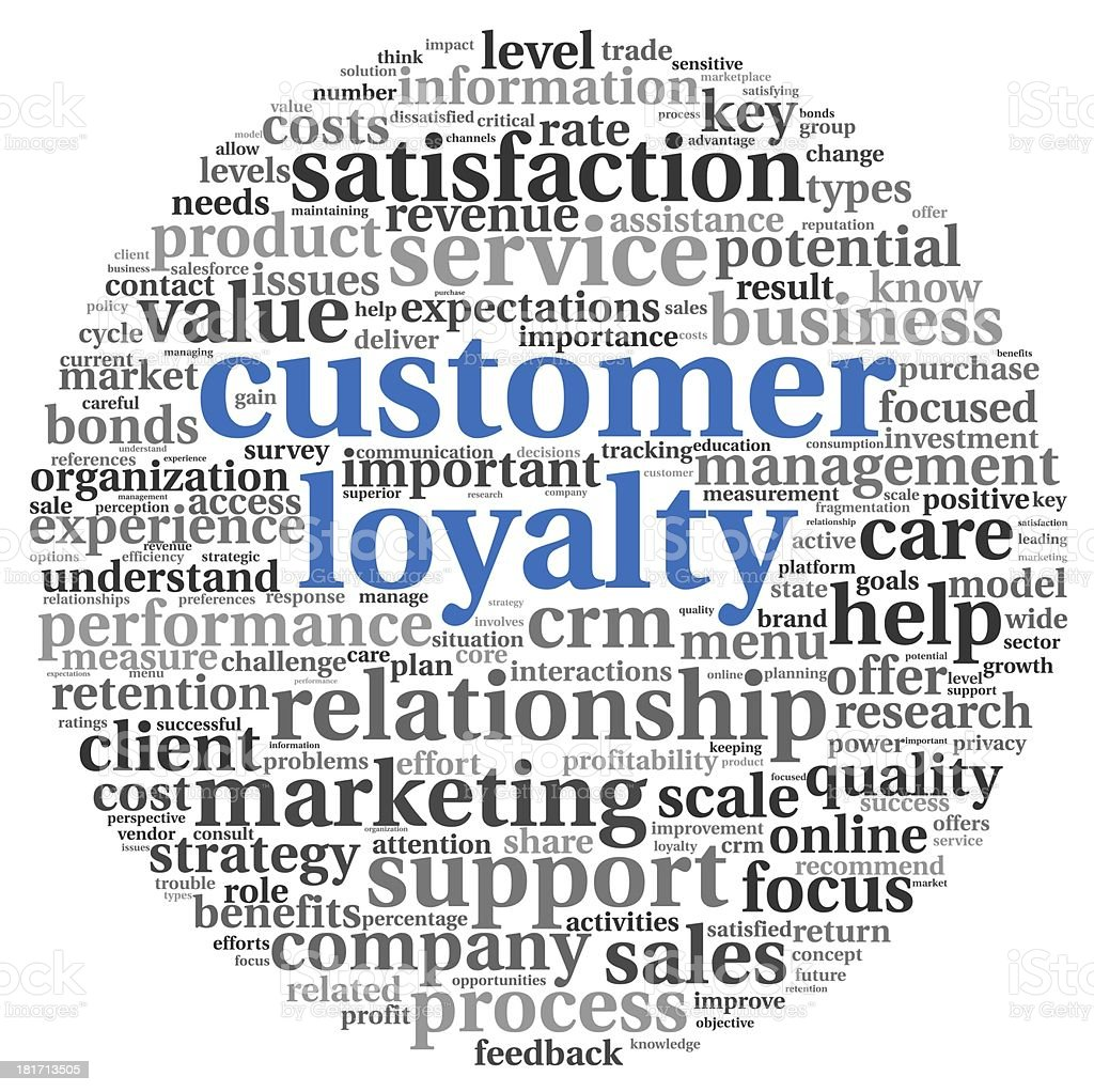 Customer loyalty concept on white stock photo