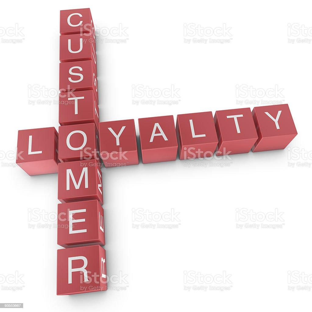 Customer loyalty vector art illustration