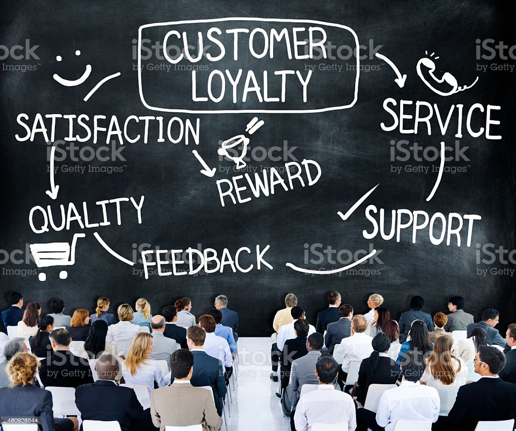 Customer Loyalty Satisfaction Support Strategy Concept stock photo