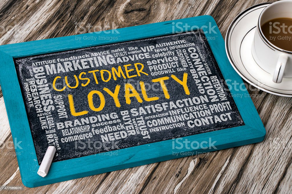customer loyalty with related word stock photo