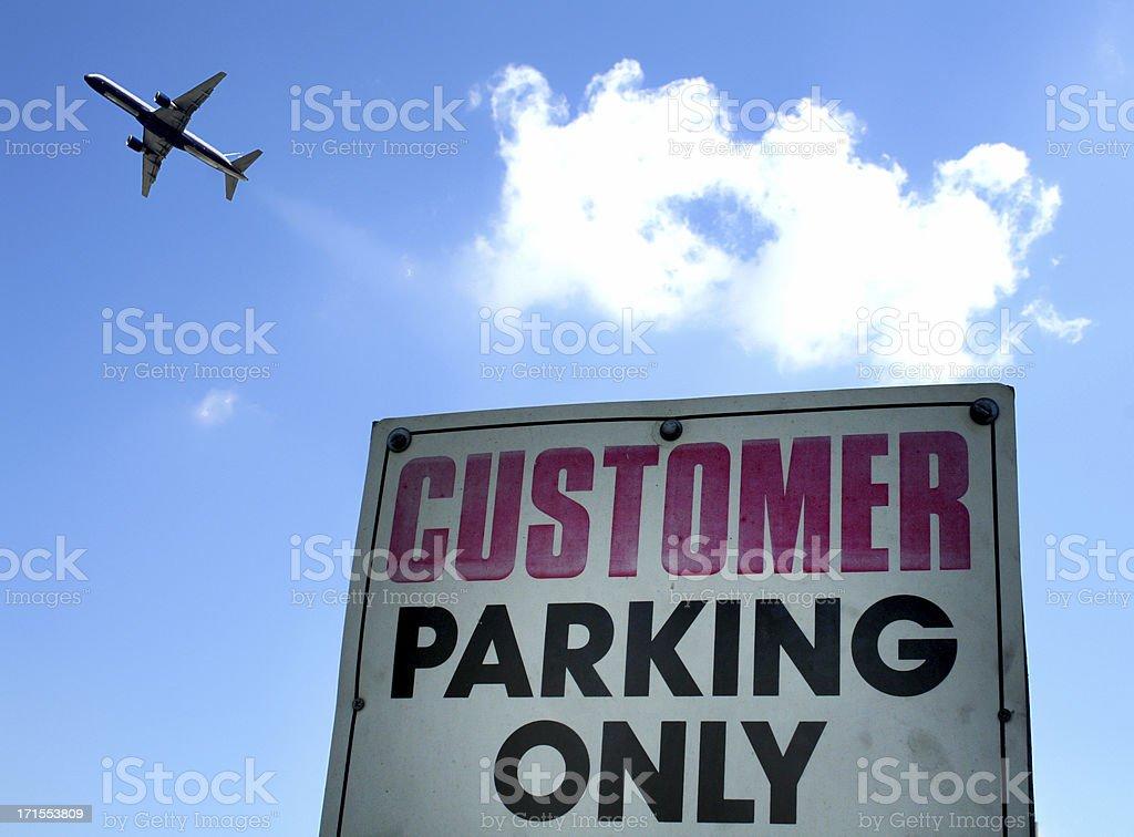 Customer parking royalty-free stock photo