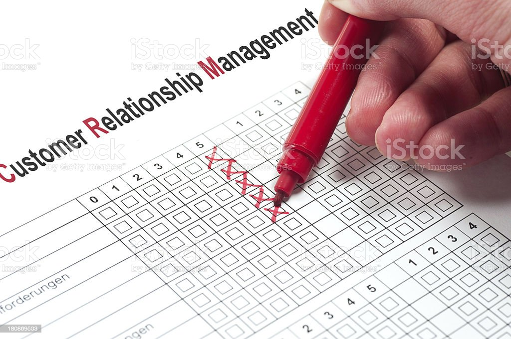 Customer Relationship Management - CRM survey stock photo