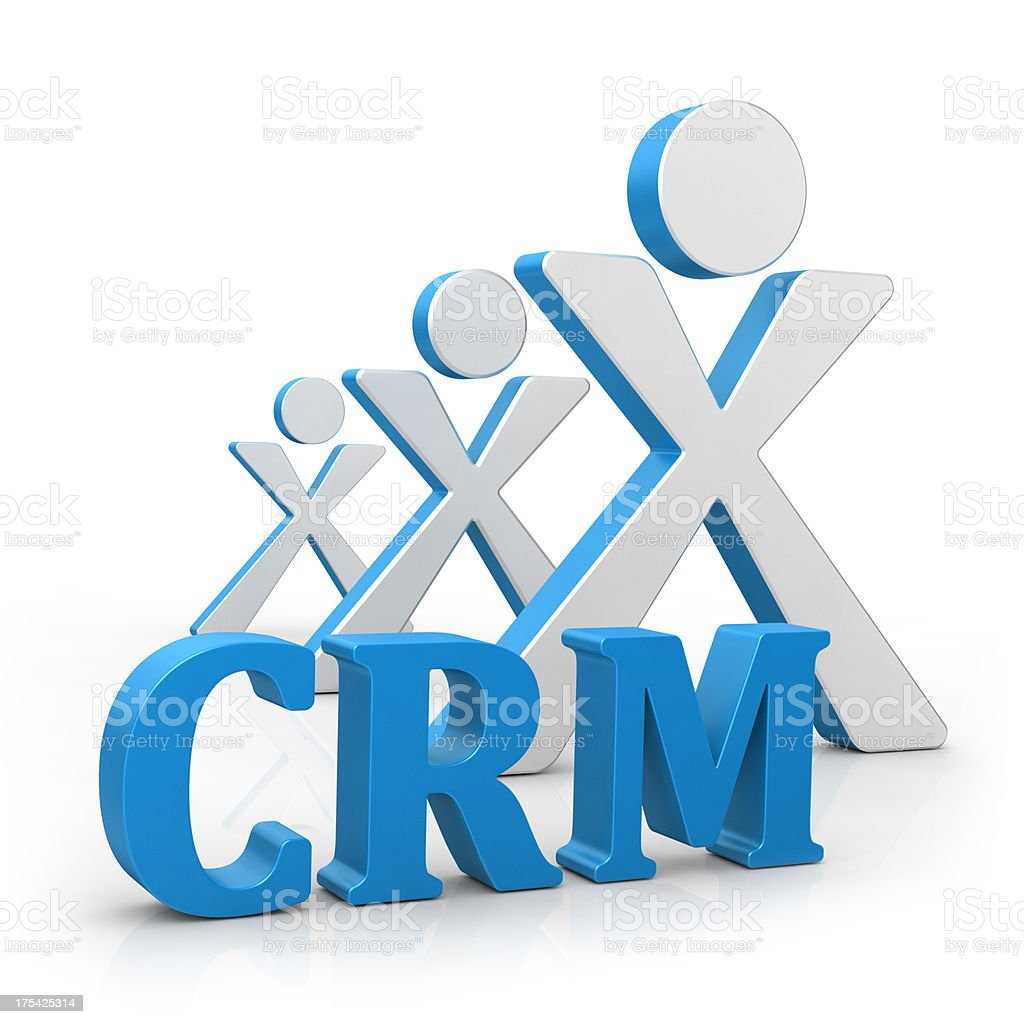 CRM - Customer Relationship Marketing royalty-free stock photo