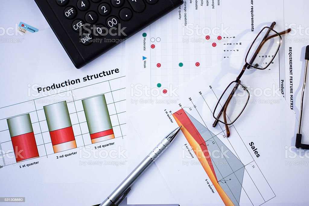 Customer requirements and production planning stock photo