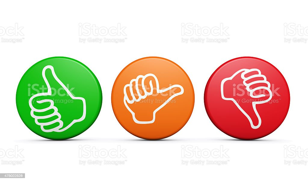 Customer Satisfaction Feedback Review Buttons stock photo