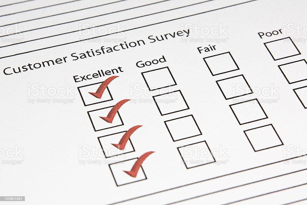 Customer Satisfaction royalty-free stock photo