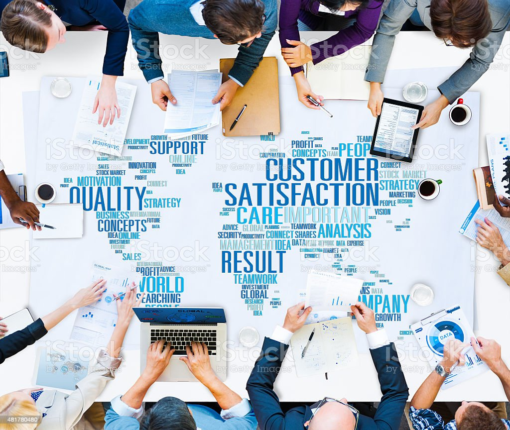 Customer Satisfaction Reliability Quality Service Concept stock photo