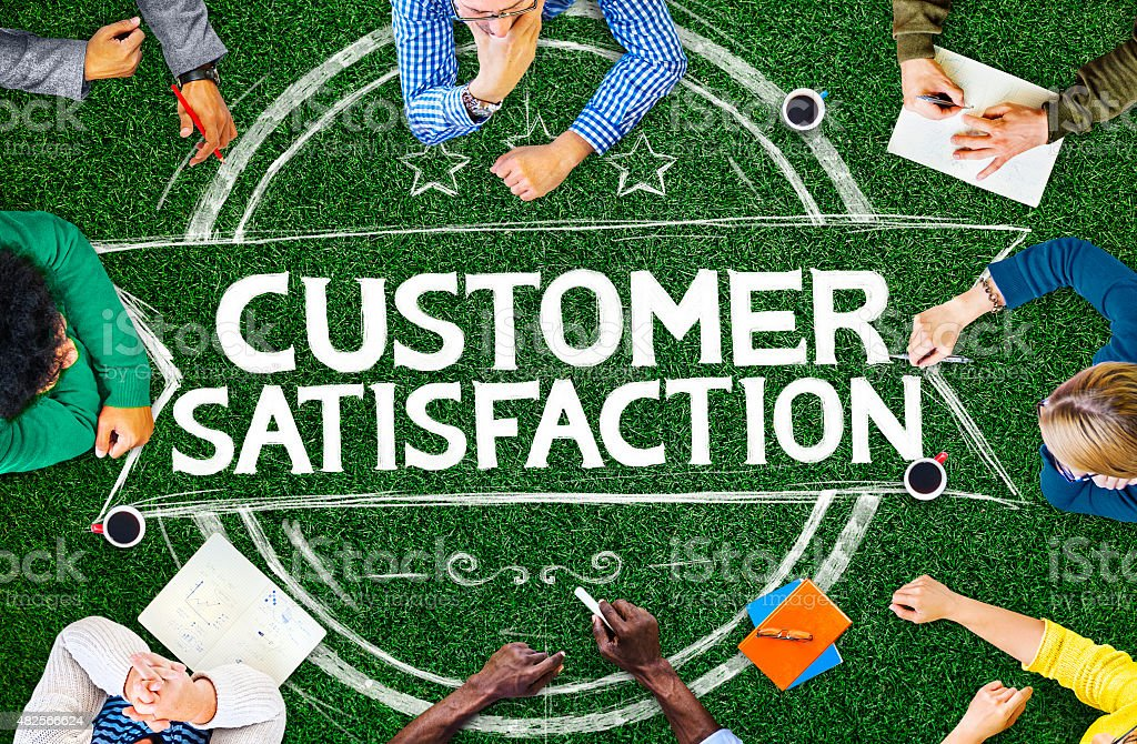 Customer Satisfaction Support Service Quality Concept stock photo