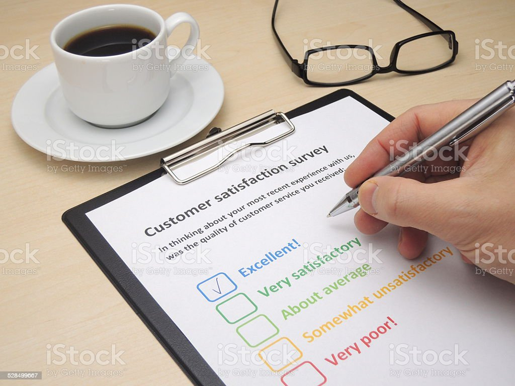 Customer satisfaction survey - excellent stock photo