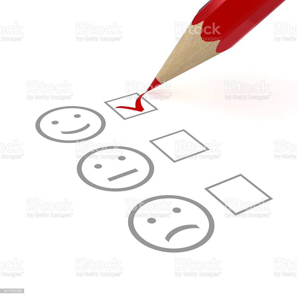 Customer satisfaction survey feedback stock photo