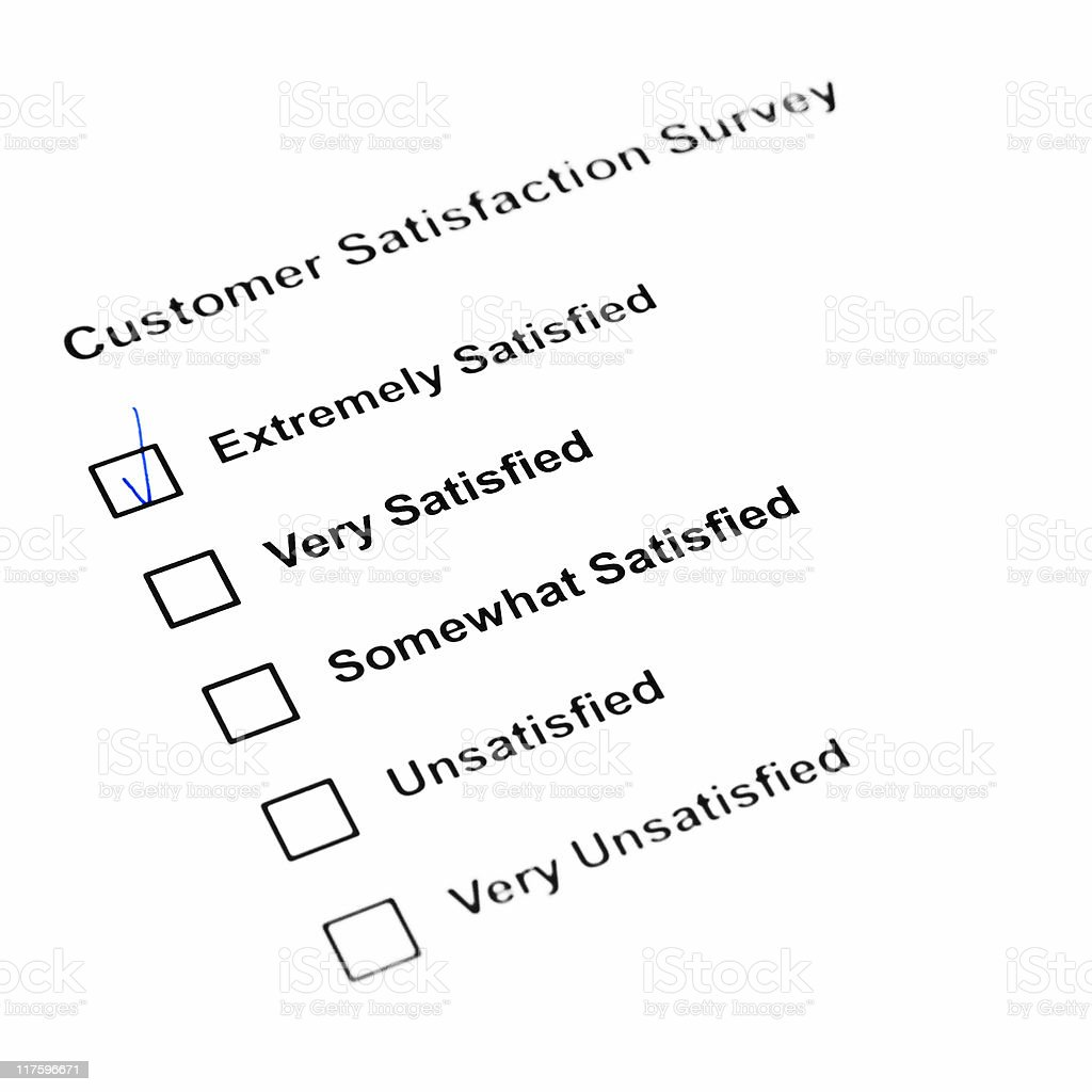 customer satisfaction survey royalty-free stock photo
