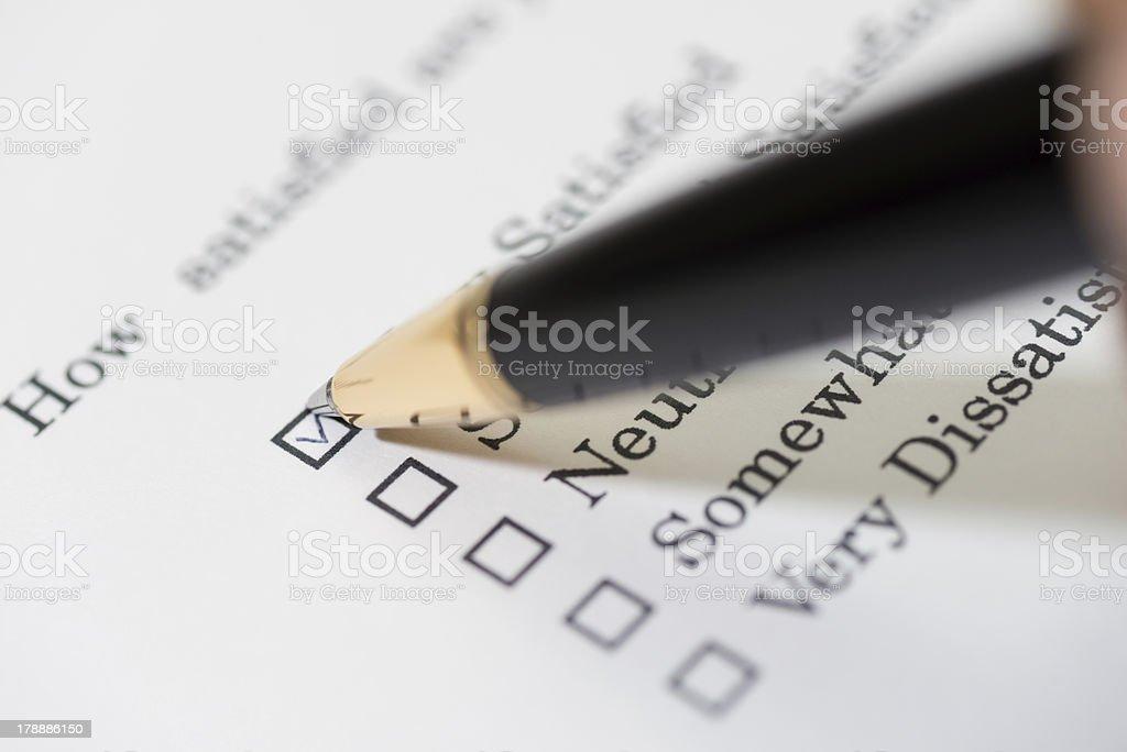 Customer satisfaction survey (XXXLarge) stock photo