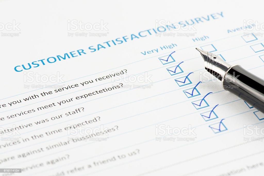 Customer Satisfaction Survey stock photo