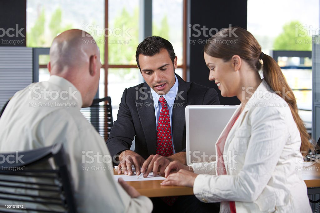 Customer service agent stock photo