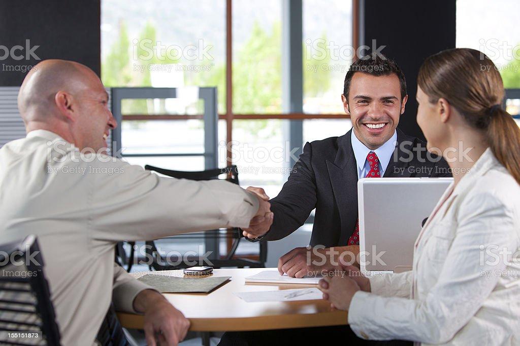Customer service agent stock photo