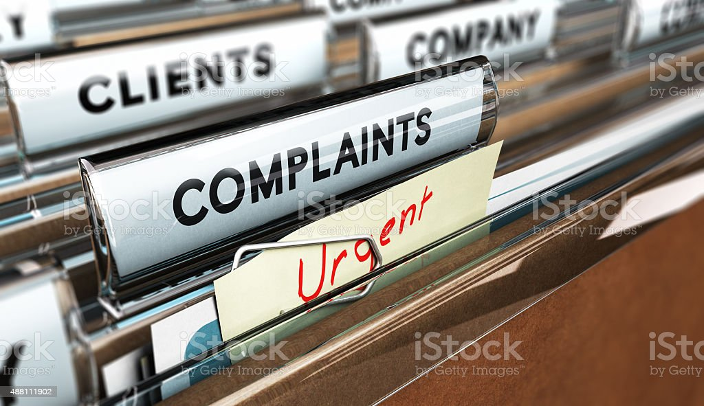 Customer Service, Complaint stock photo