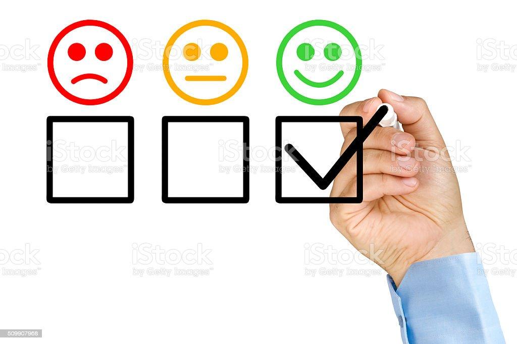 Customer service evaluation stock photo