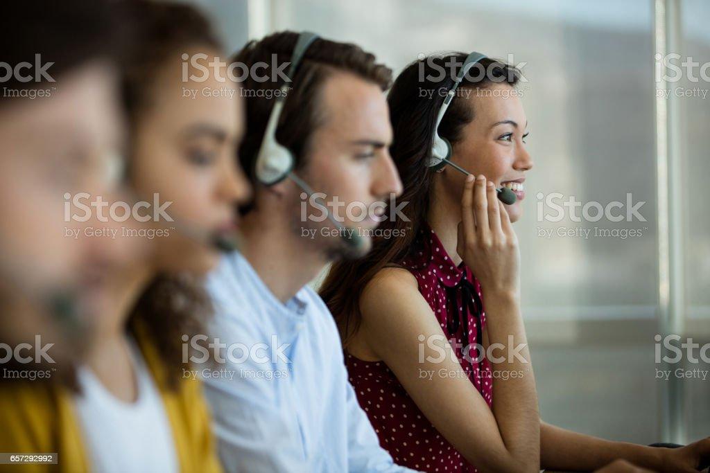 Customer service executives working stock photo