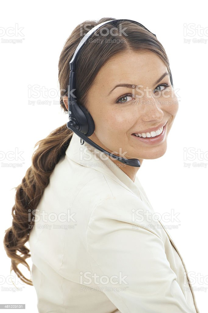 Customer service is my speciality royalty-free stock photo