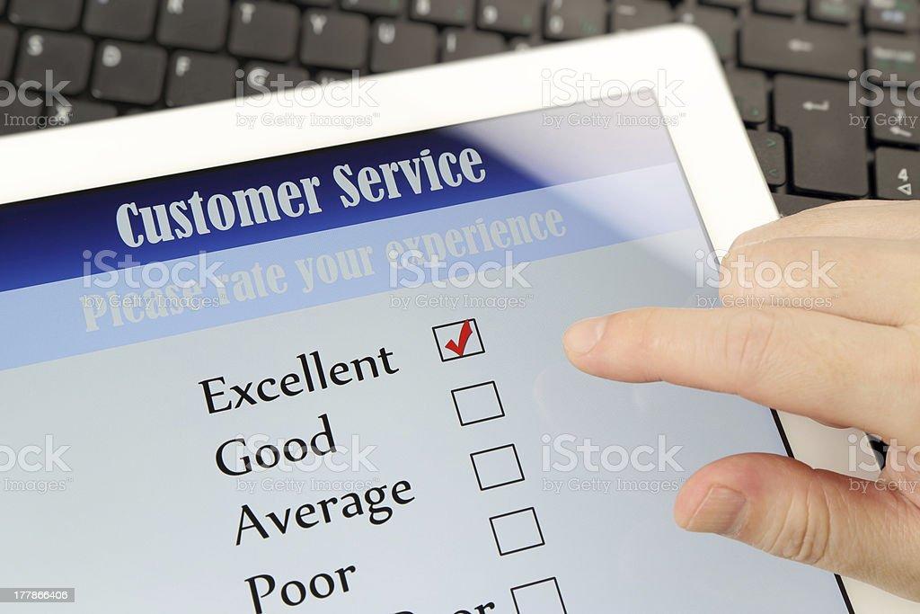 Customer service online survey royalty-free stock photo